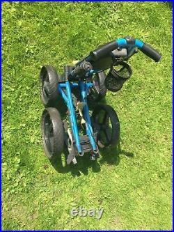 SUN MOUNTAIN Micro Cart MC3 4-Wheel Golf Push Trolley, brolly holder, decent