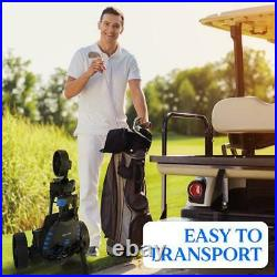 SereneLife 3-Wheel Electric Rechargeable Lightweight Folding Golf Push Cart