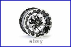 Set (4) 10 SS681 Aluminum Golf Cart Car Rim Wheel & 205-50-10 Tires Mounted