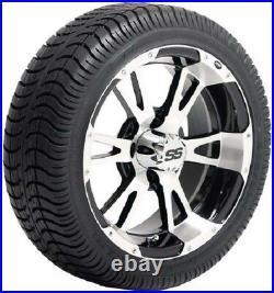 Set (4) ITP 14 SS STi HD Aluminum Alloy Golf Cart GEM NEV Car Rim Wheels & Tires