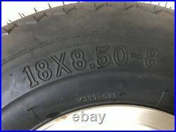Set Of 4 Kenda 18X8.50-8 Take Off Golf Cart OEM Tires & Wheels Barely Used