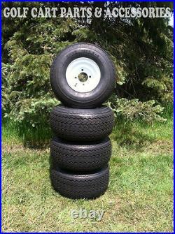 Set Of (4) NEW Golf Cart Tires & Wheels 18x8.50-8 EZGO, Club Car, Yamaha Cars