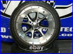 Set of (4) 12 Aluminum Alloy Golf Cart Car Rims Wheels & Tires Mounted