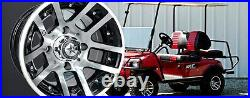 Set of (4) Fairway Alloys 10 x 7 Illusion FA121 Golf Cart Car Rim Wheel