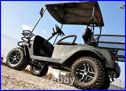 Set of (4) Fairway Alloys 10 x 7 Prestige FA123 Golf Cart Car Rim Wheel New