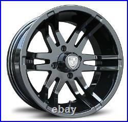 Set of (4) Fairway Alloys 14 Inch Flex Golf Cart Car Rim Wheel FA140 FA 140
