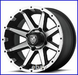 Set of (4) Fairway Alloys 14 Inch Rebel Golf Cart Car Rim Wheel