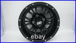 Set of 4 Golf Cart Diesel 12 inch Matte Black Wheel With 34 Offset