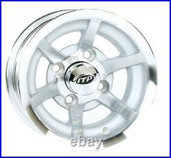 Set of (4) ITP or HD 10 x 7 Aluminum Golf Cart Car Rims Wheels