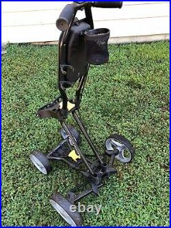 Sun Mountain Micro Cart 4-Wheel Collapsible Push Cart with cupholder