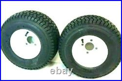 TWO (2) 18x8.50-8 Wheel+Tires Lawn Tractor Golf Cart 4 Lug 18 8.50 8 18 850 8