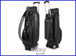 TaylorMade 2020 Women's Wheeled Caddie Bag 8.0in 5-Way 8.5 lbs PU Free EMS Black