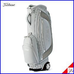 Titleist 2020 Women's Urban Wheeled Golf Caddie Cart Bag 9inch 5Way Light Gray