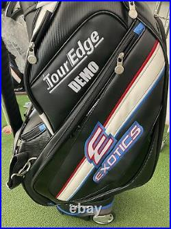 Tour Edge Exotics CBX 119 Staff Golf Cart Bag Wheeled 4-Way Black Wheels NEW