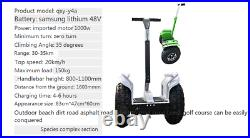 Two Wheel19in. Off Road Electric Self Balance Golf Cart Vehicle With Remote Key4