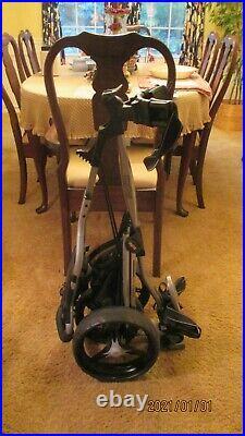 Used Bag Boy Golf Express DLX Push/Pull Cart 3 Wheel Hard wheels No Flats Nice