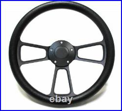 Yamaha Golf Cart 14 Black Billet & Black Steering Wheel With Horn & Adapter Kit