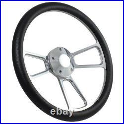 Yamaha Golf Cart Carbon Fiber Vinyl 3 Spoke Steering Wheel with Horn & Adapter